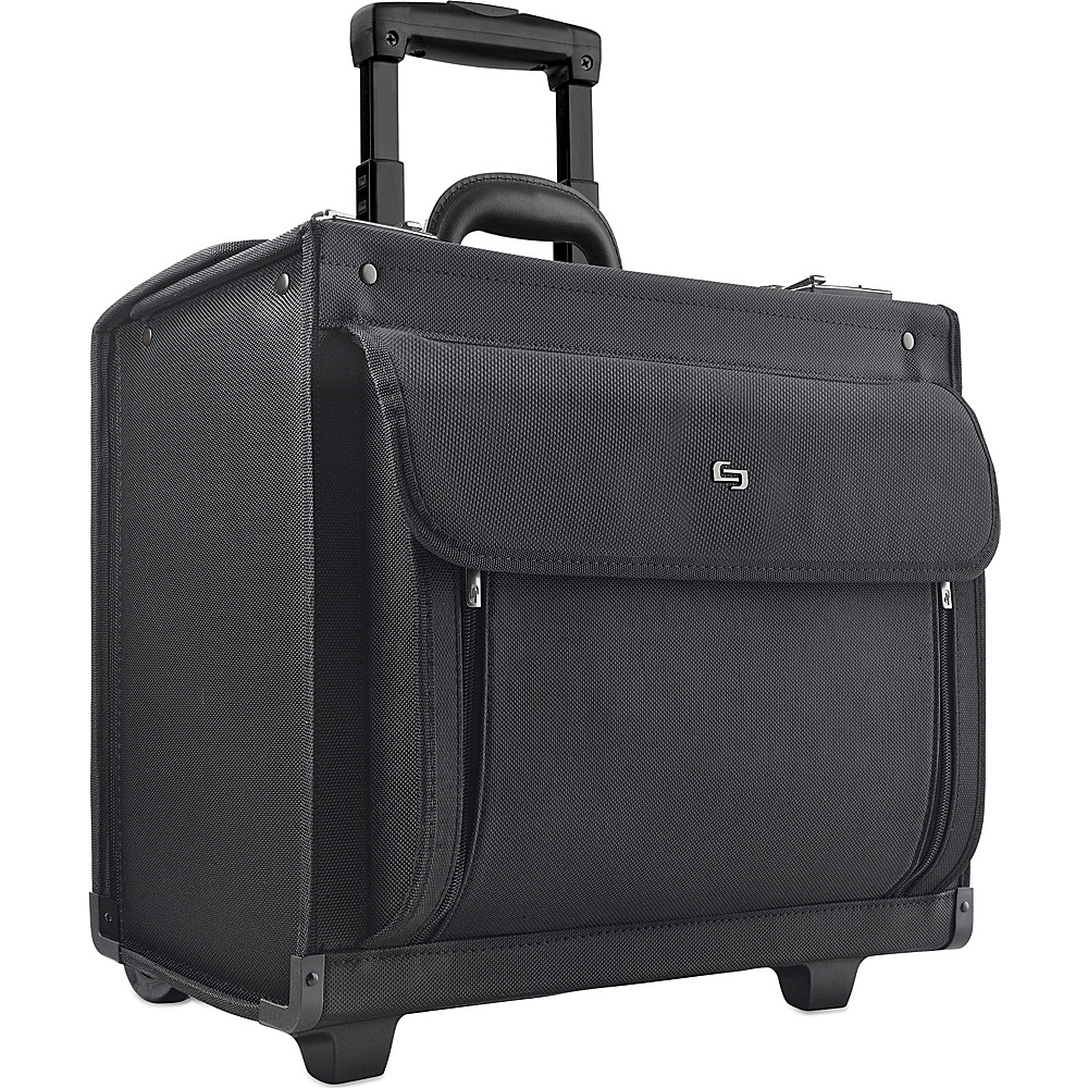SOLO Rolling Laptop Catalog Case Black