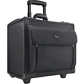 Rolling 17'' Laptop Catalog Case Black