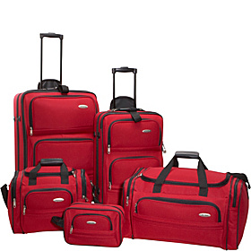 5-Piece Travel Set Red