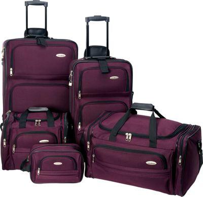 Samsonite 5 Piece Travel Set Luggage 4 Colors Luggage Set
