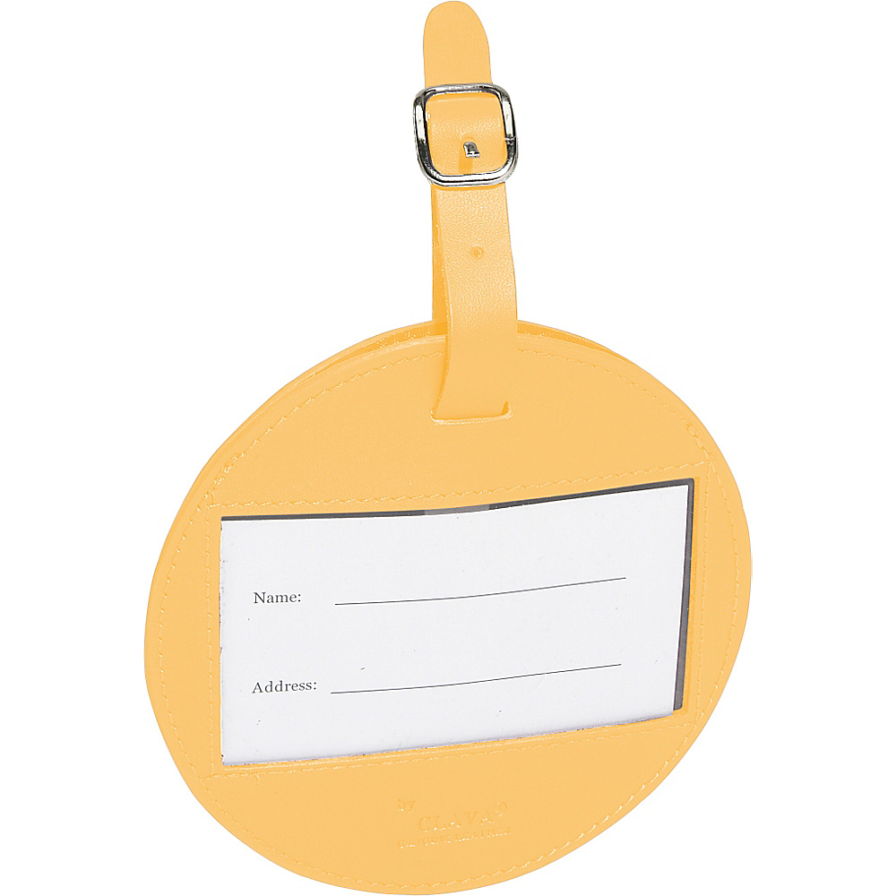 Clava Color Circle Luggage Tag - CI Yellow - Travel Accessories, Luggage Accessories