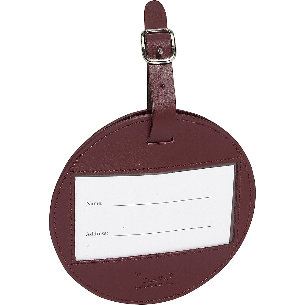 Clava Color Circle Luggage Tag - CI Burgundy - Travel Accessories, Luggage Accessories