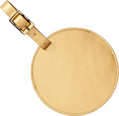 Clava Color Circle Luggage Tag Gold - Clava Luggage Accessories