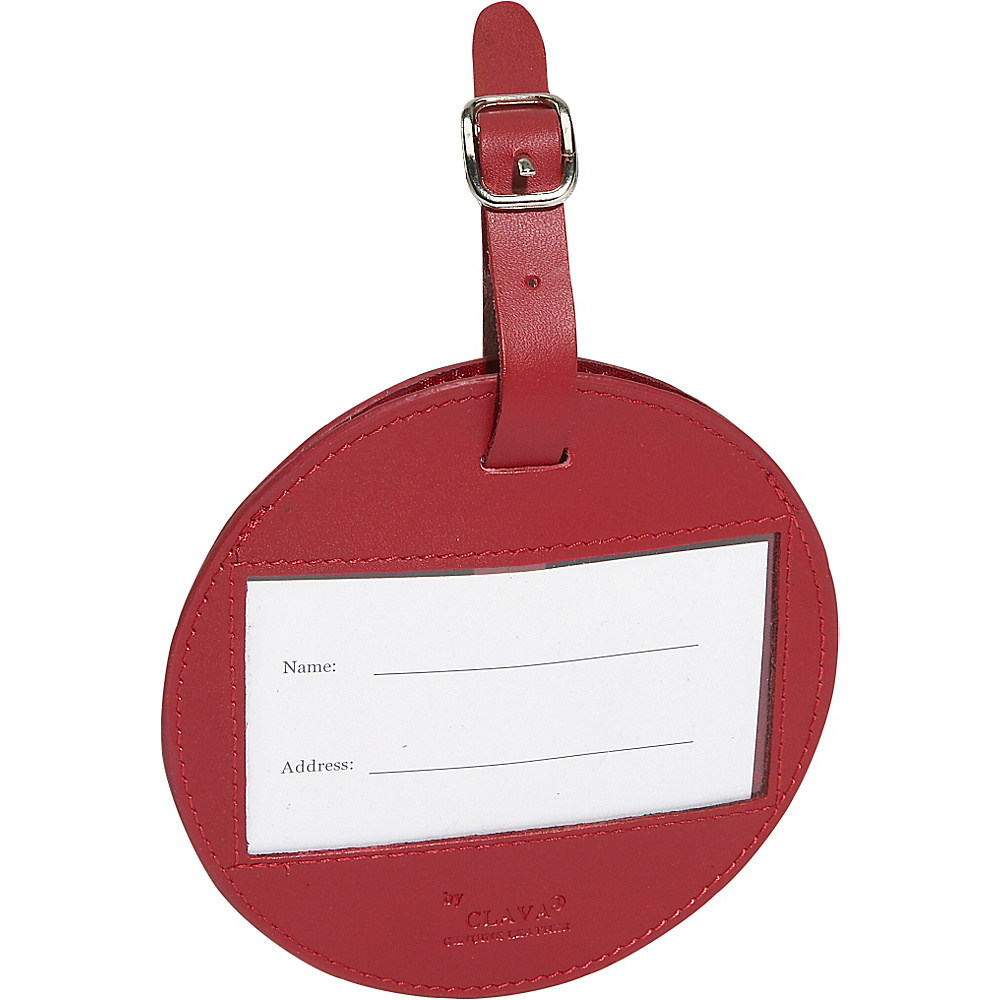 Clava Color Circle Luggage Tag - Cl Red - Travel Accessories, Luggage Accessories
