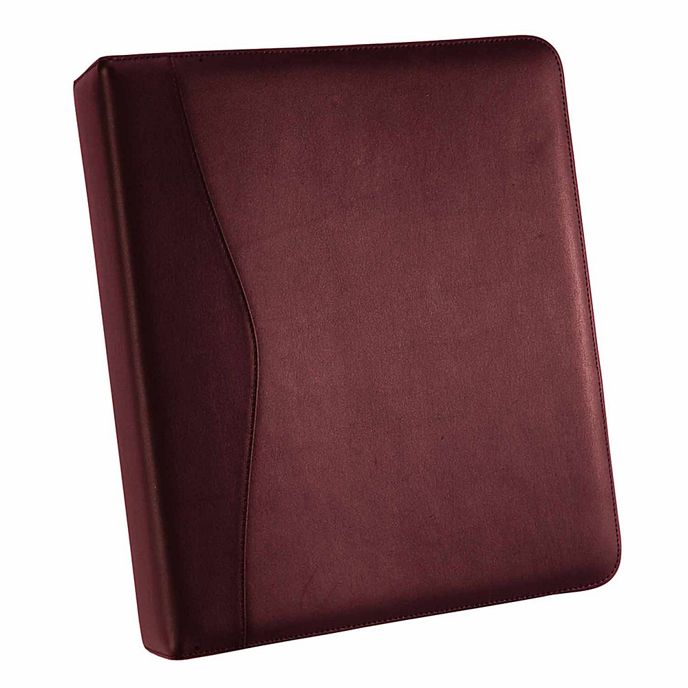 Royce Leather 2 D Ring Binder - Burgundy - Work Bags & Briefcases, Business Accessories