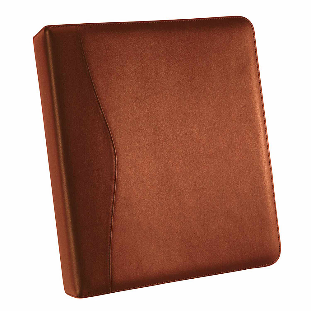 Royce Leather 2 D Ring Binder - Tan - Work Bags & Briefcases, Business Accessories