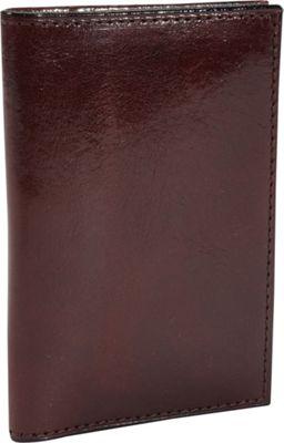 Bosca Old Leather Calling Card Case Dark Brown - Bosca Men's Wallets