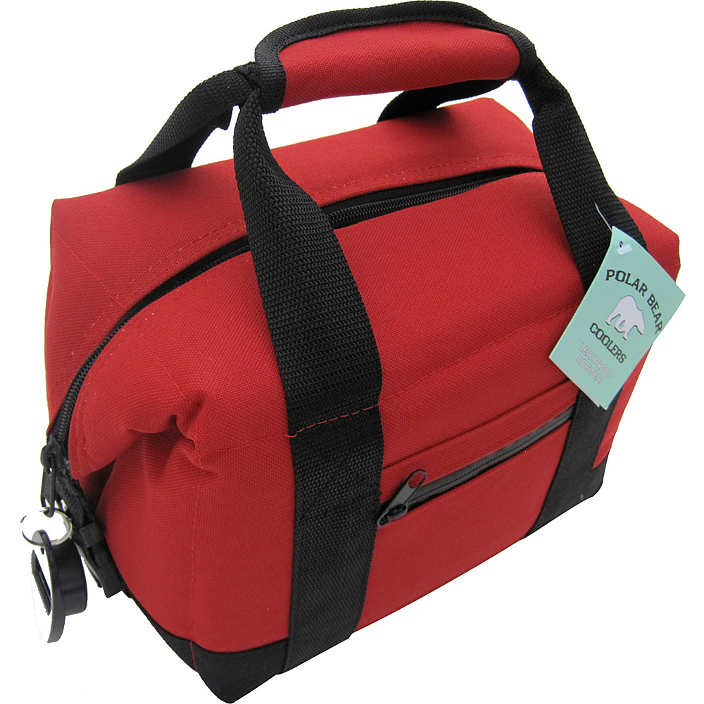 Polar Bear Coolers 6 Pack Soft Side Cooler - Red - Red - Outdoor, Outdoor Coolers