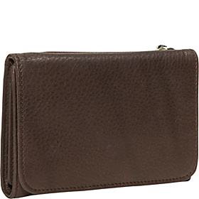 Cashmere Snap Wallet Raisin