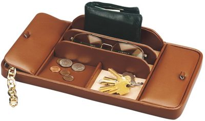 Budd Leather Leather Large Dresser Valet Brown - Budd Leather Business Accessories