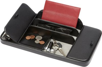 Budd Leather Leather Large Dresser Valet Black - Budd Leather Business Accessories