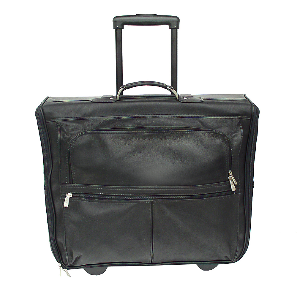 Piel Garment Bag on Wheels - Black - Luggage, Garment Bags