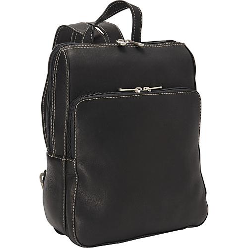 Piel Slim Front Backpack - Black