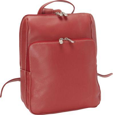 Piel Slim Front Backpack - Red