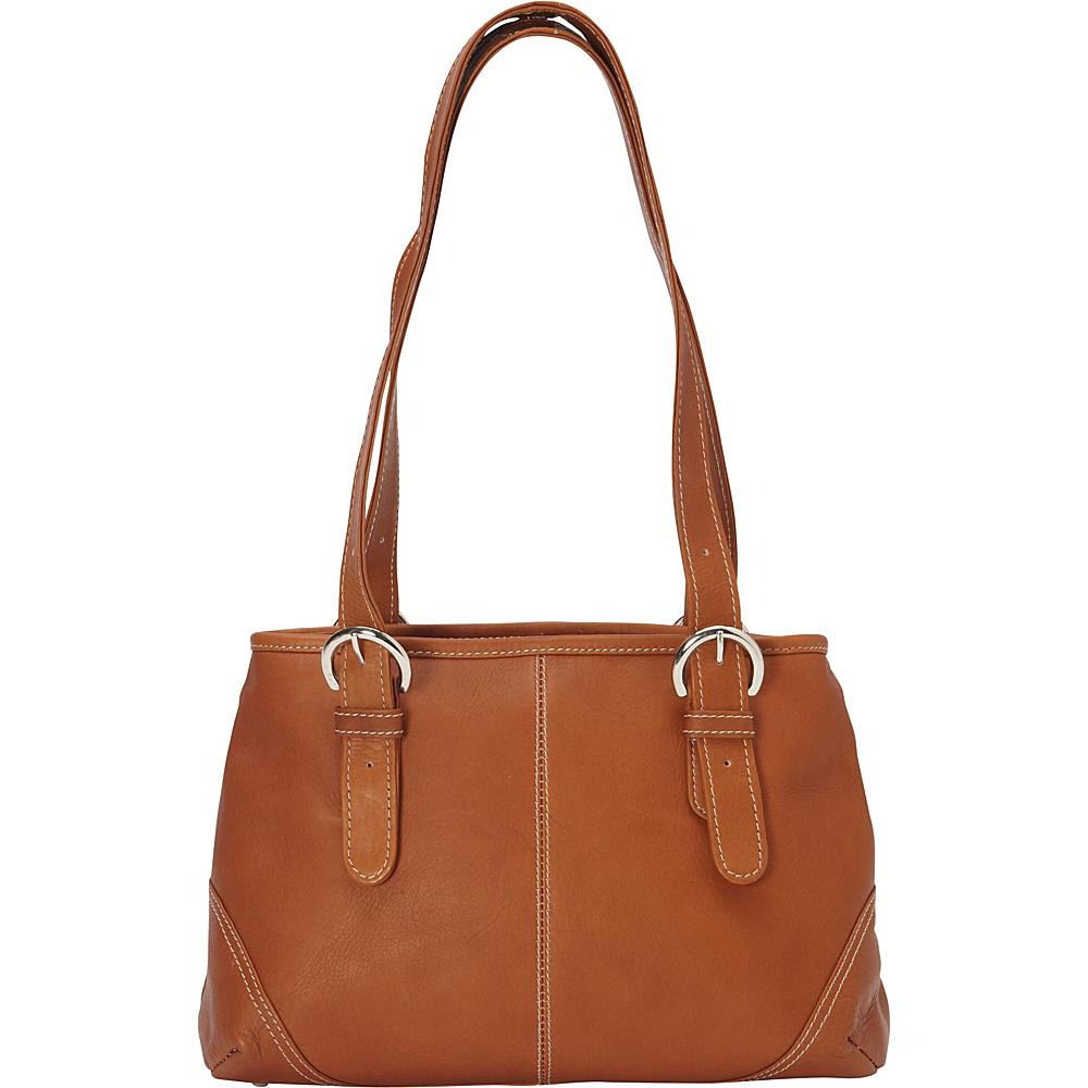 Piel Medium Buckle Handbag - Saddle - Handbags, Leather Handbags