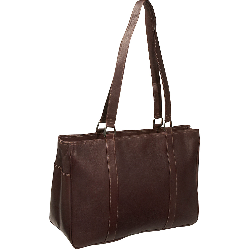 Piel Medium Carry-All Tote - Chocolate - Work Bags & Briefcases, Women's Business Bags