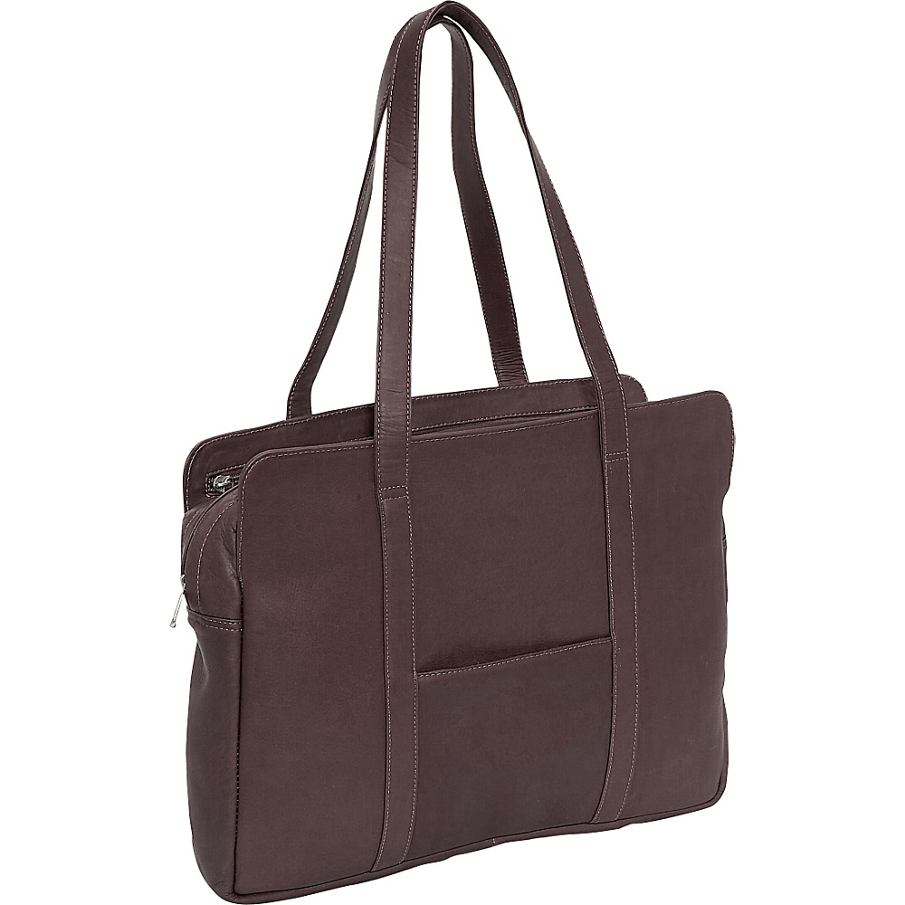Piel Lady Professional Bloom Bag - Chocolate - Work Bags & Briefcases, Women's Business Bags