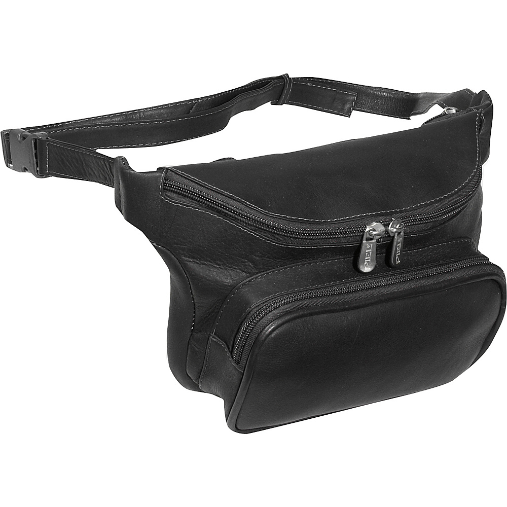 Piel Large Classic Waist Bag - Black - Backpacks, Waist Packs