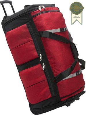 Athalon 15-Pocket 34 inchWheeling Duffel Red - Athalon Travel Duffels