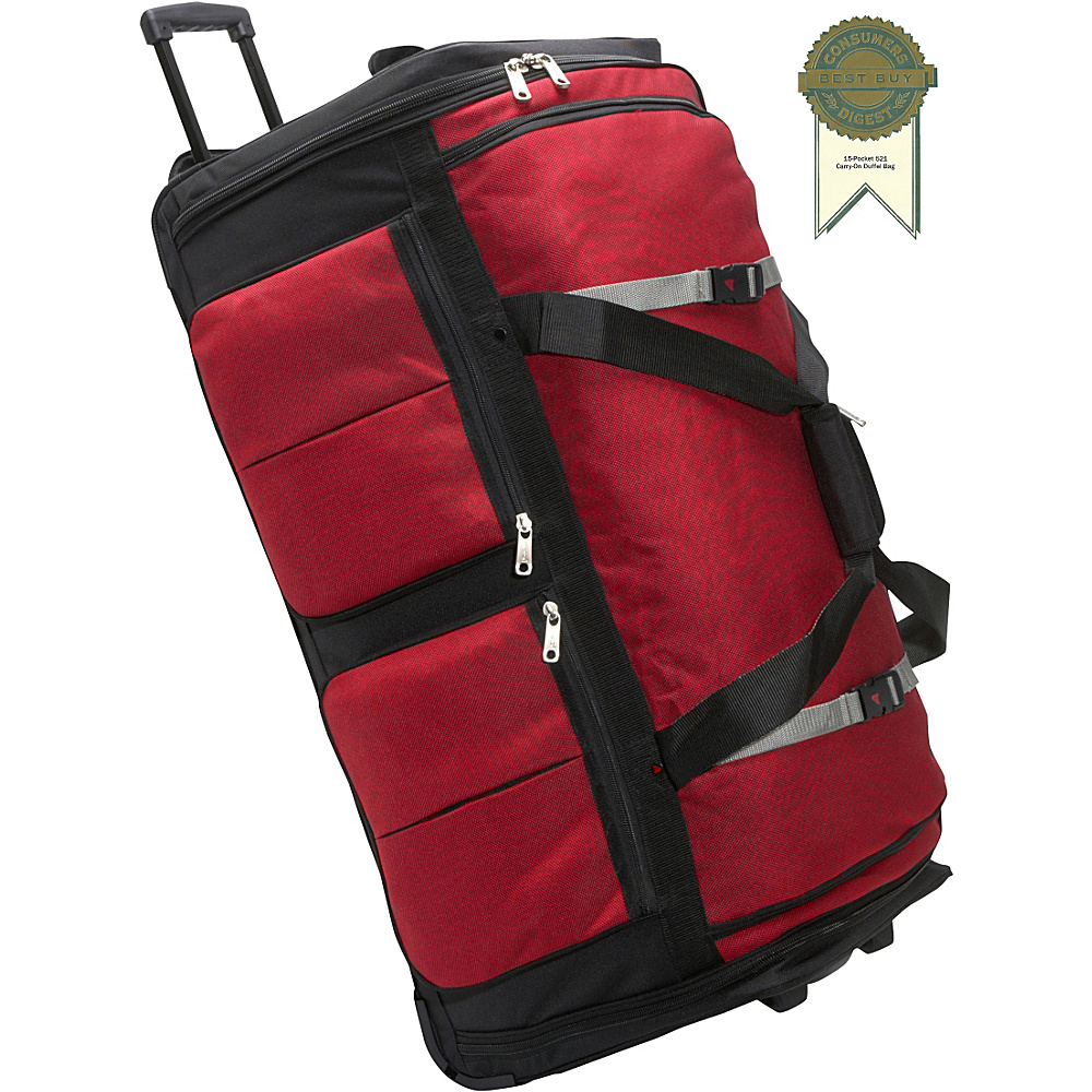 Athalon 15 Pocket 34 Wheeling Duffel Red Athalon Rolling Duffels