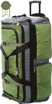 Athalon 15-Pocket 34 inchWheeling Duffel Grass/Gray - Athalon Travel Duffels