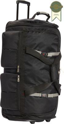 Athalon 15-Pocket 34 inchWheeling Duffel Black - Athalon Travel Duffels