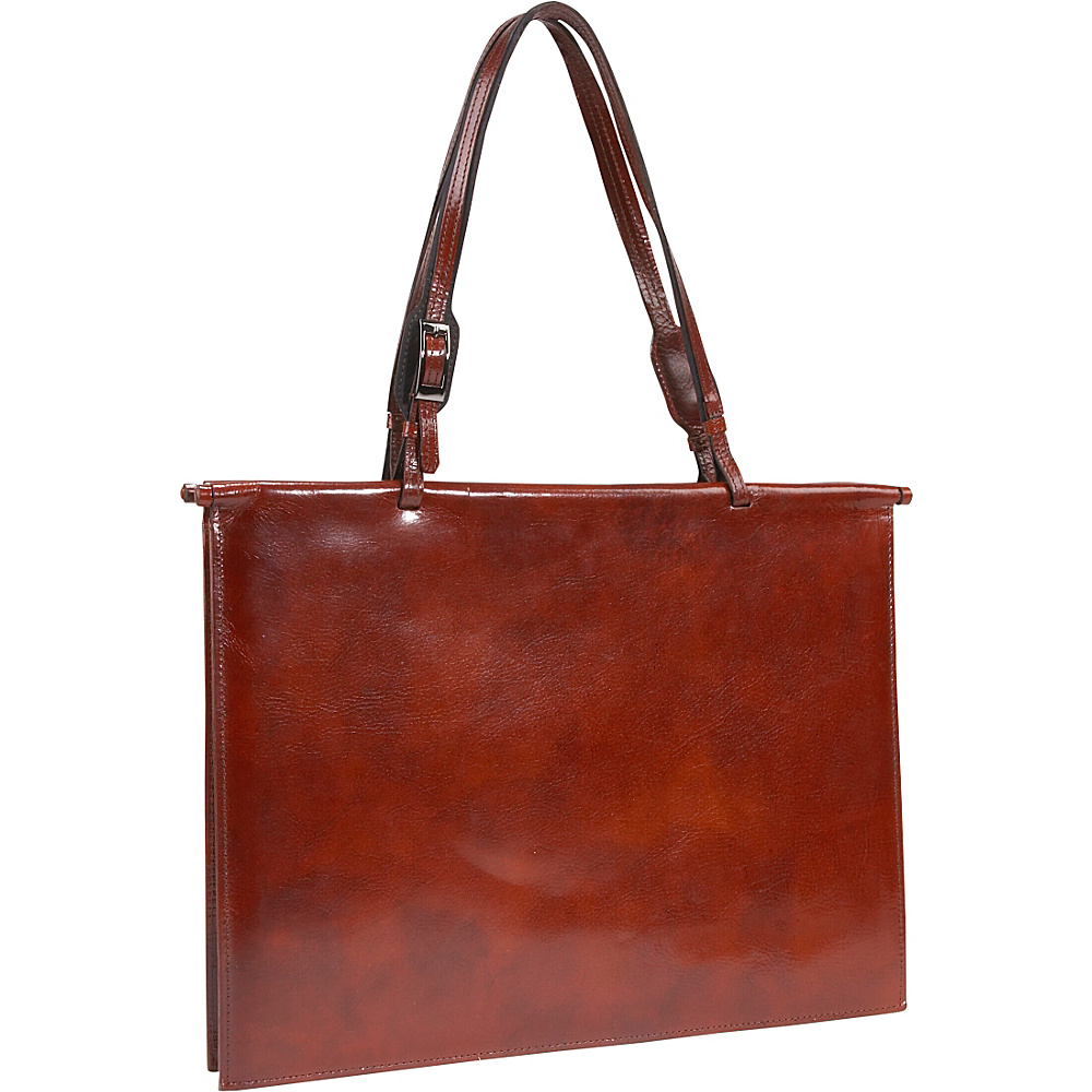Scully Handbag Brief Mahogany