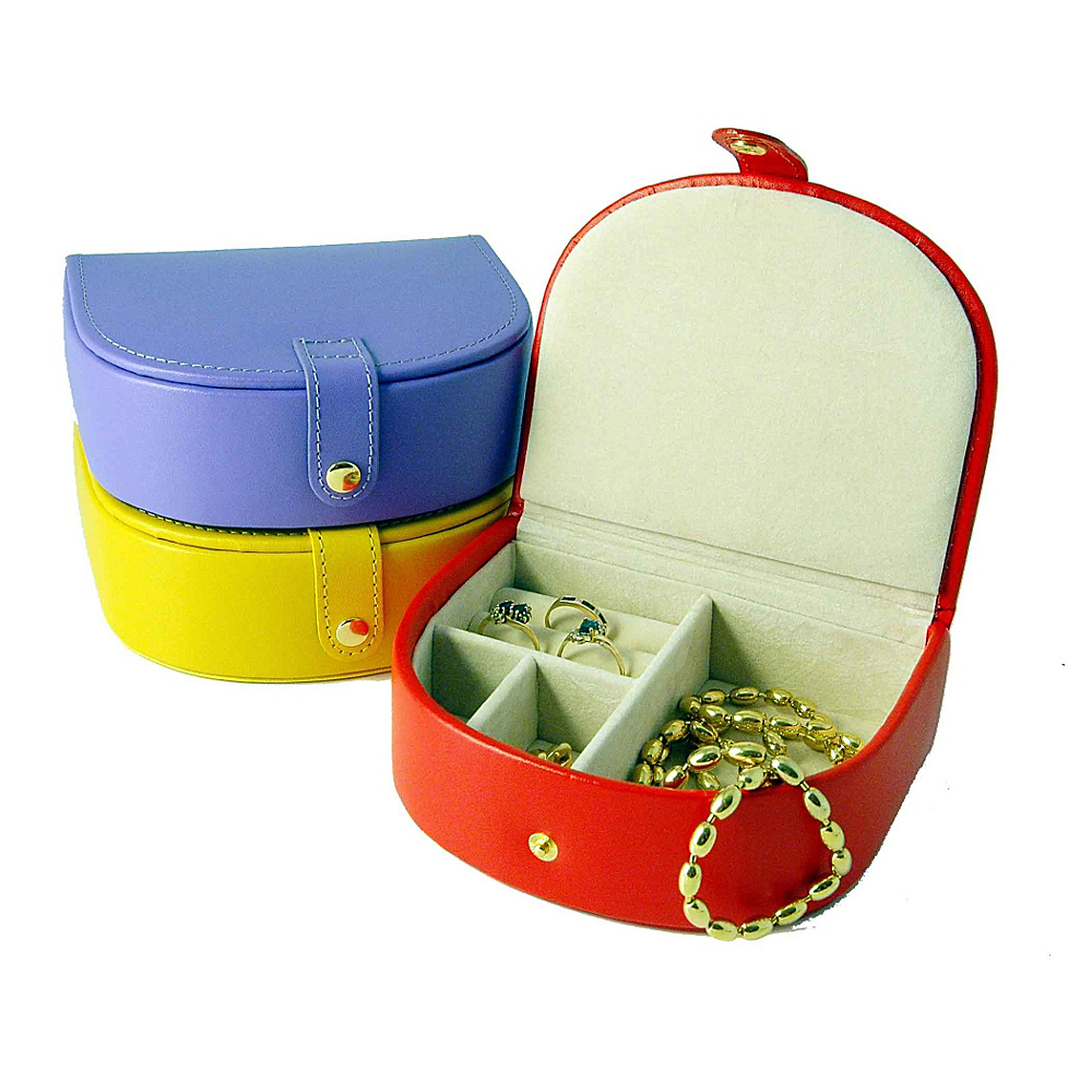 Budd Leather Leather Small Bow Front Jewel Box Yellow