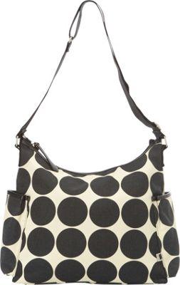 OiOi Dot Diaper Hobo Ebony/Desert - OiOi Diaper Bags & Accessories
