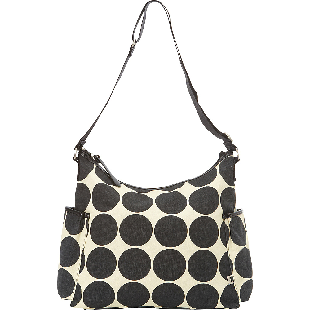 OiOi Dot Diaper Hobo Ebony/Desert - OiOi Diaper Bags & Accessories