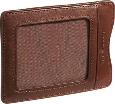 Osgoode Marley Cashmere Magnetic Clip Wallet - Brandy
