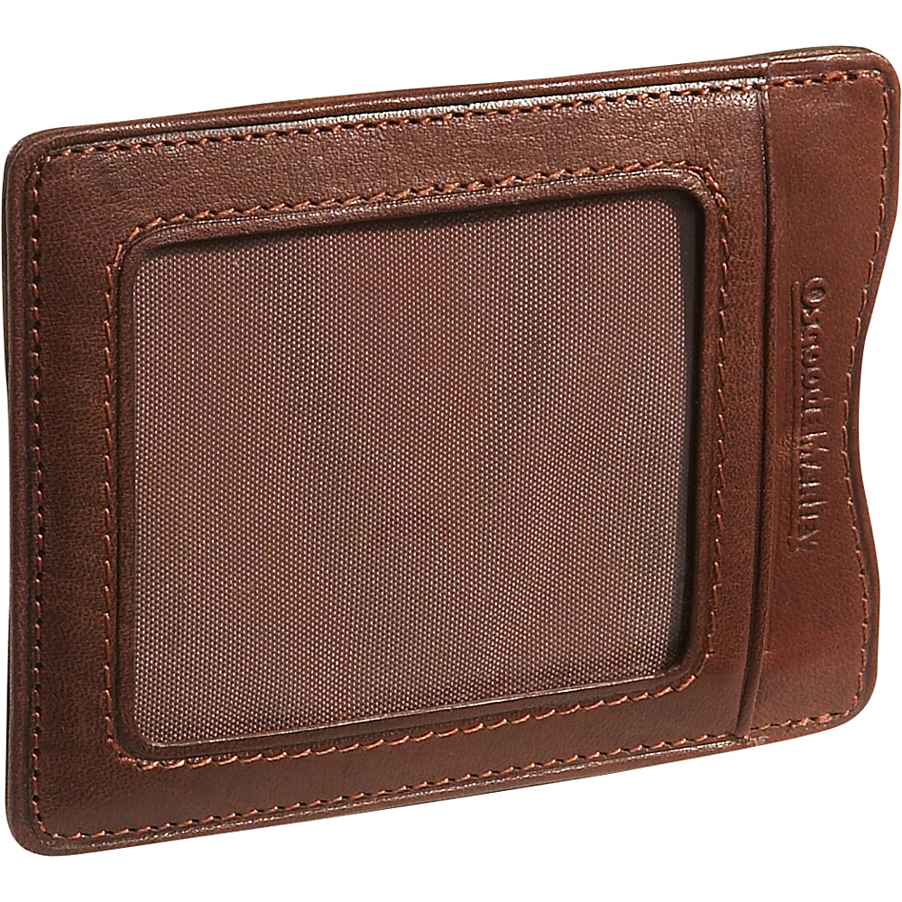 Osgoode Marley Cashmere Magnetic Clip Wallet - Brandy - Work Bags & Briefcases, Men's Wallets