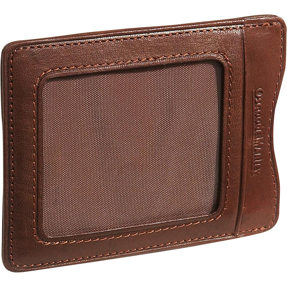 Osgoode Marley Cashmere Magnetic Clip Wallet Brandy