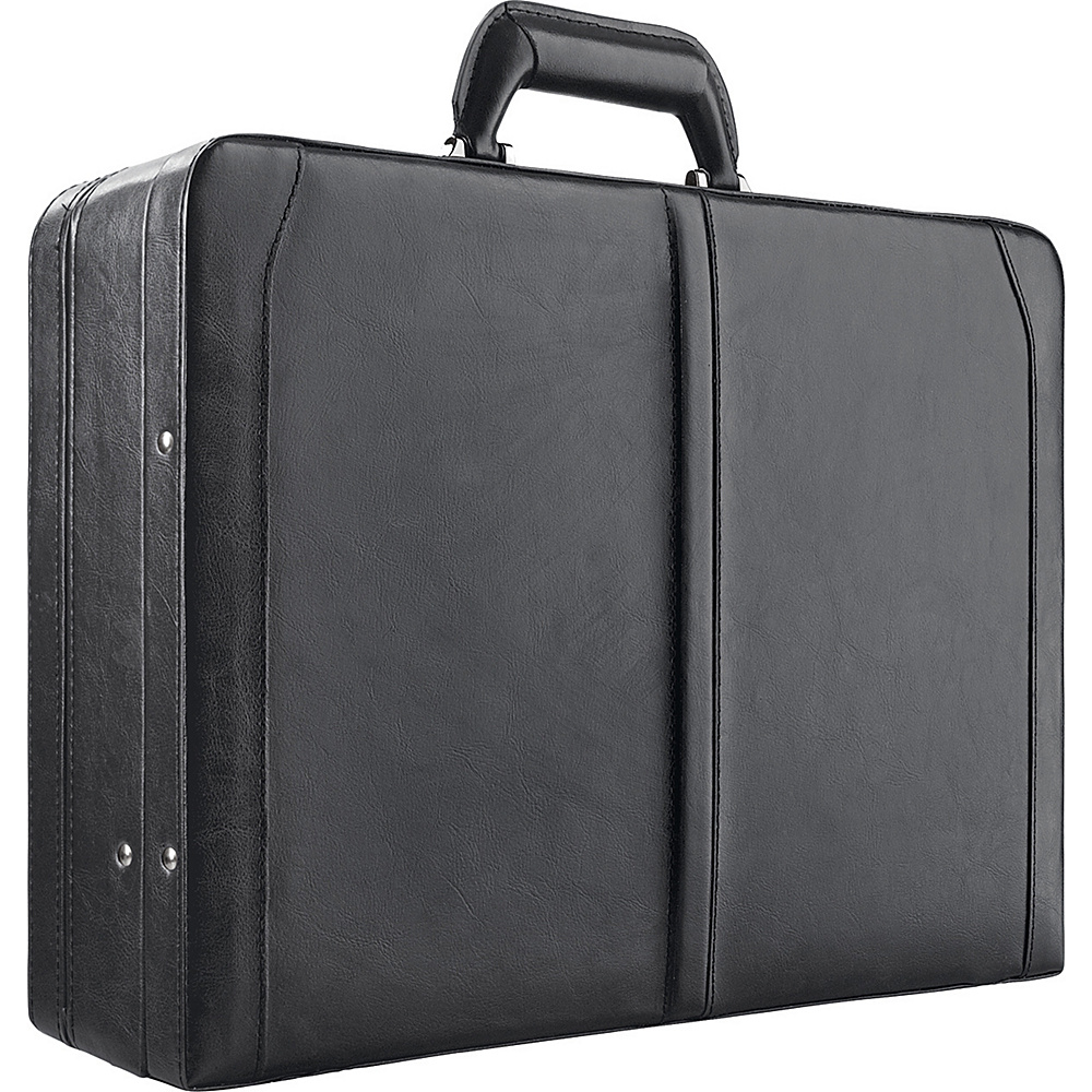 SOLO Leather Laptop Attache - Black - Work Bags & Briefcases, Non-Wheeled Business Cases