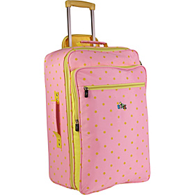 Dots Mine™ 21'' Rolling Upright Carry-On Pink/Yellow
