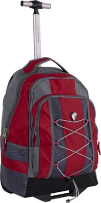 CalPak Impactor Wheeled Backpack Deep Red - Wheeled Backpacks