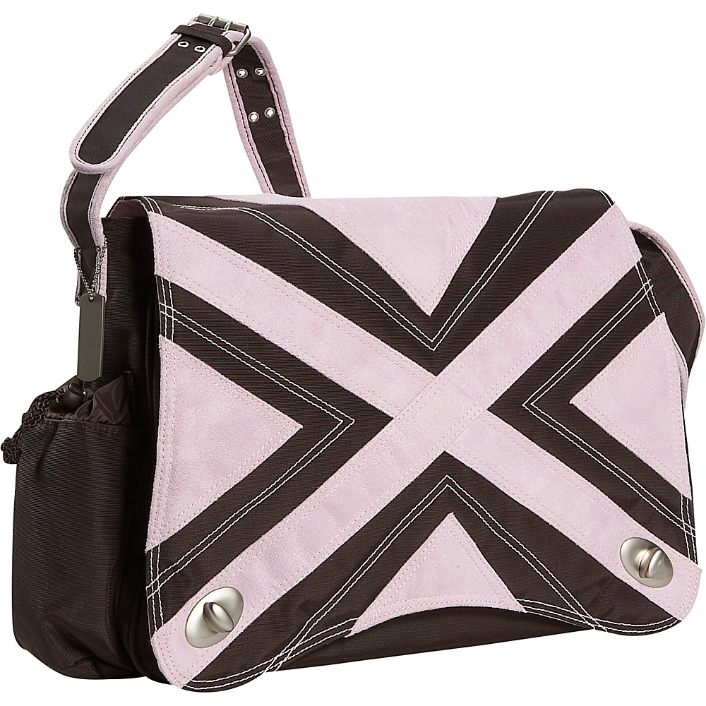 Kalencom Hannahs Messenger Diaper Bag - Chocolate/Pink - Handbags, Diaper Bags & Accessories
