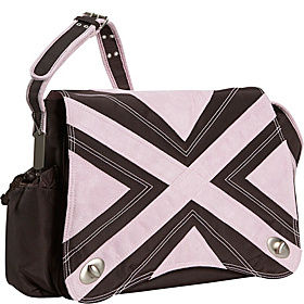 Hannah's Messenger Diaper Bag Chocolate/Pink
