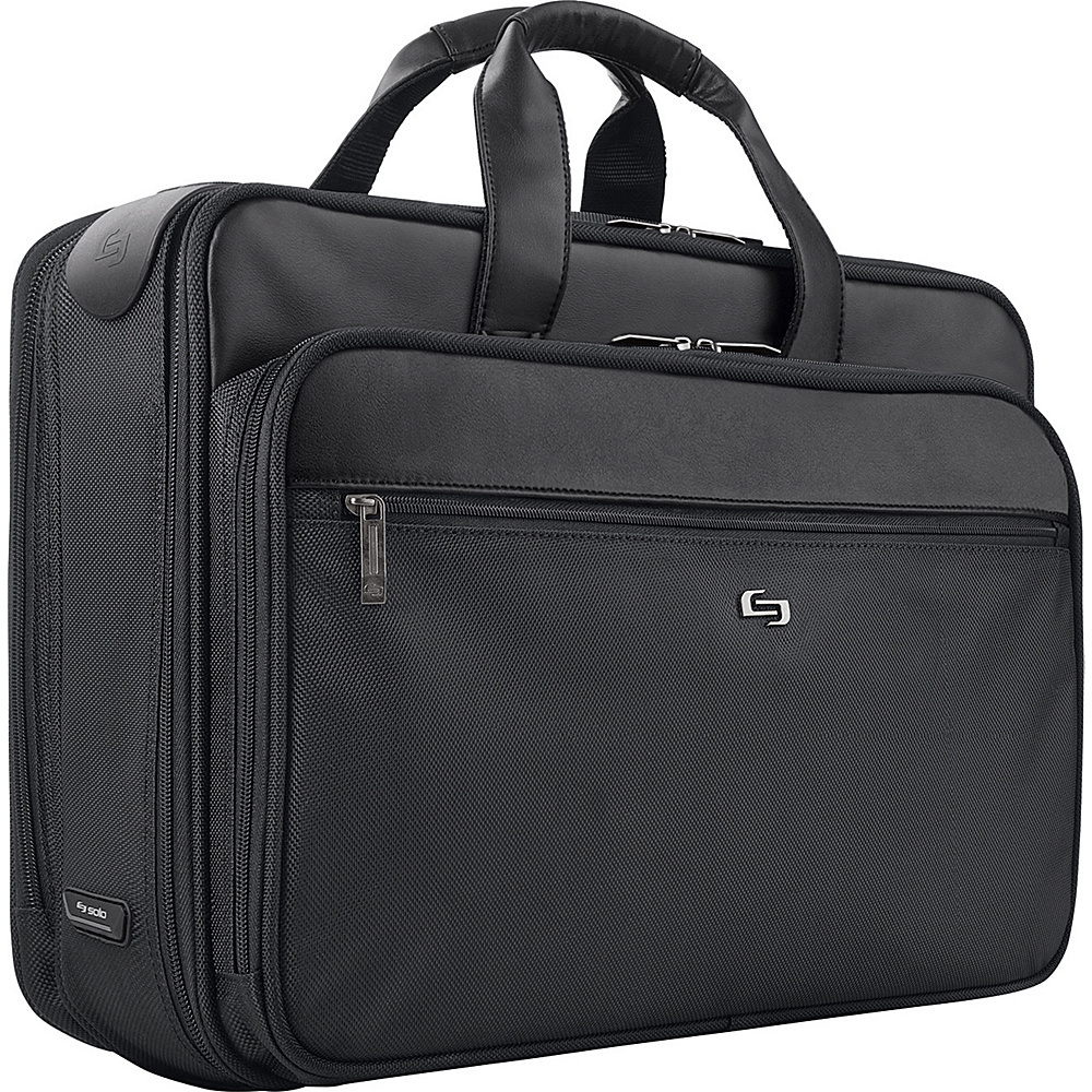 SOLO Laptop Briefcase with Retractable Shoulder Strap - Work Bags & Briefcases, Non-Wheeled Business Cases