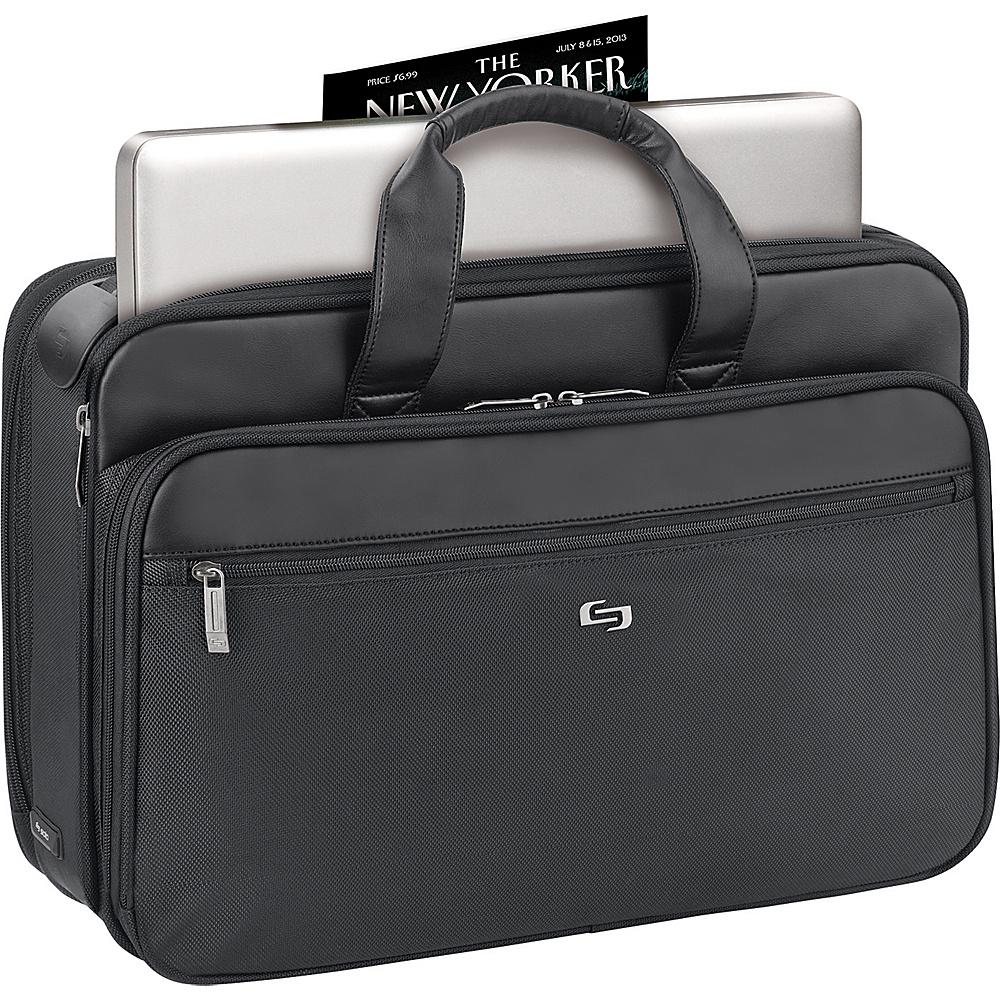 SOLO Laptop Briefcase with Retractable Shoulder Strap