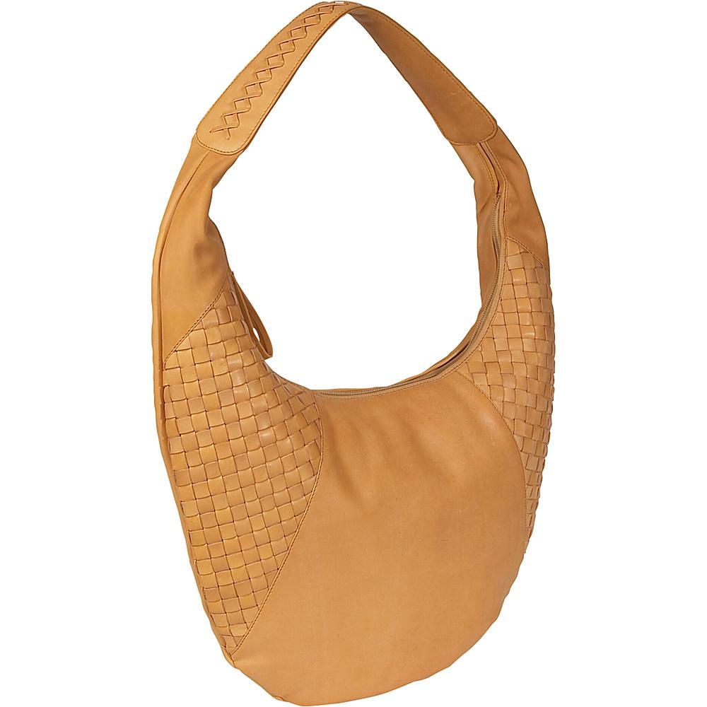 Derek Alexander Flash Back Large Top Zip Hobo Buff - Derek Alexander Leather Handbags - Handbags, Leather Handbags
