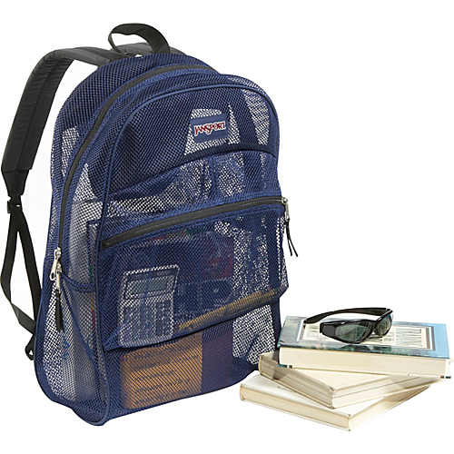 JanSport Mesh Pack Backpack Navy - Backpacks, School & Day Hiking Backpacks