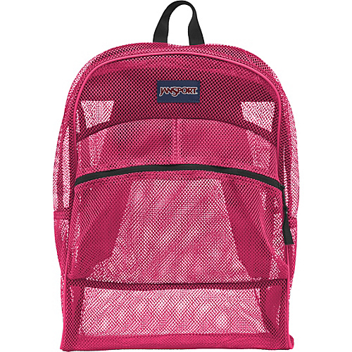 JanSport Mesh Pack Pink Tulip - JanSport School & Day Hiking Backpacks