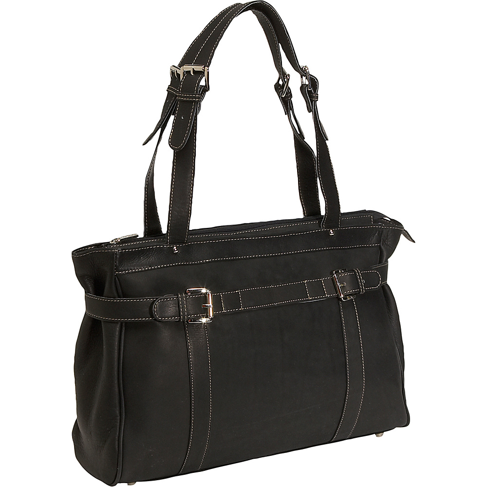 Piel Belted Laptop Tote - Black - Work Bags & Briefcases, Women's Business Bags
