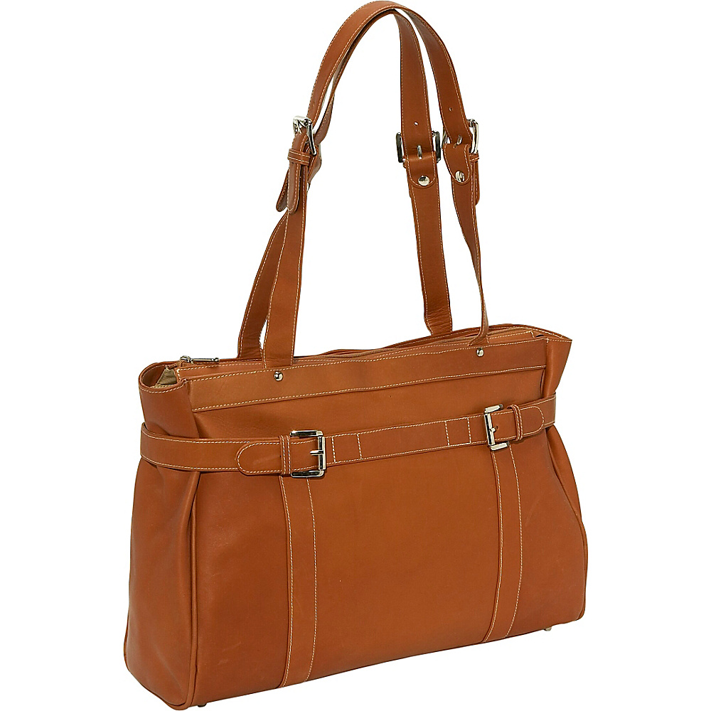 Piel Belted Laptop Tote - Saddle - Work Bags & Briefcases, Women's Business Bags