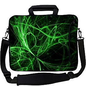15'' Executive Laptop Sleeve Green Neon Lights