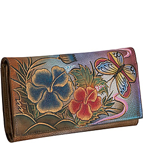 Multi Pocket Wallet/Clutch-Premium Hibiscus Antique Premium Hibiscus Antique