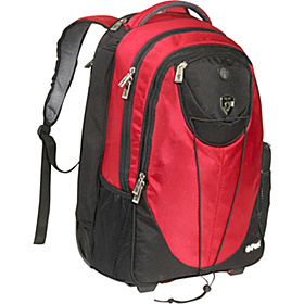 ePac01 Rolling Laptop Backpack Red