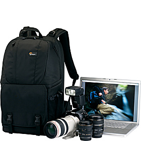 Fastpack 350 Camera/Laptop Backpack Black