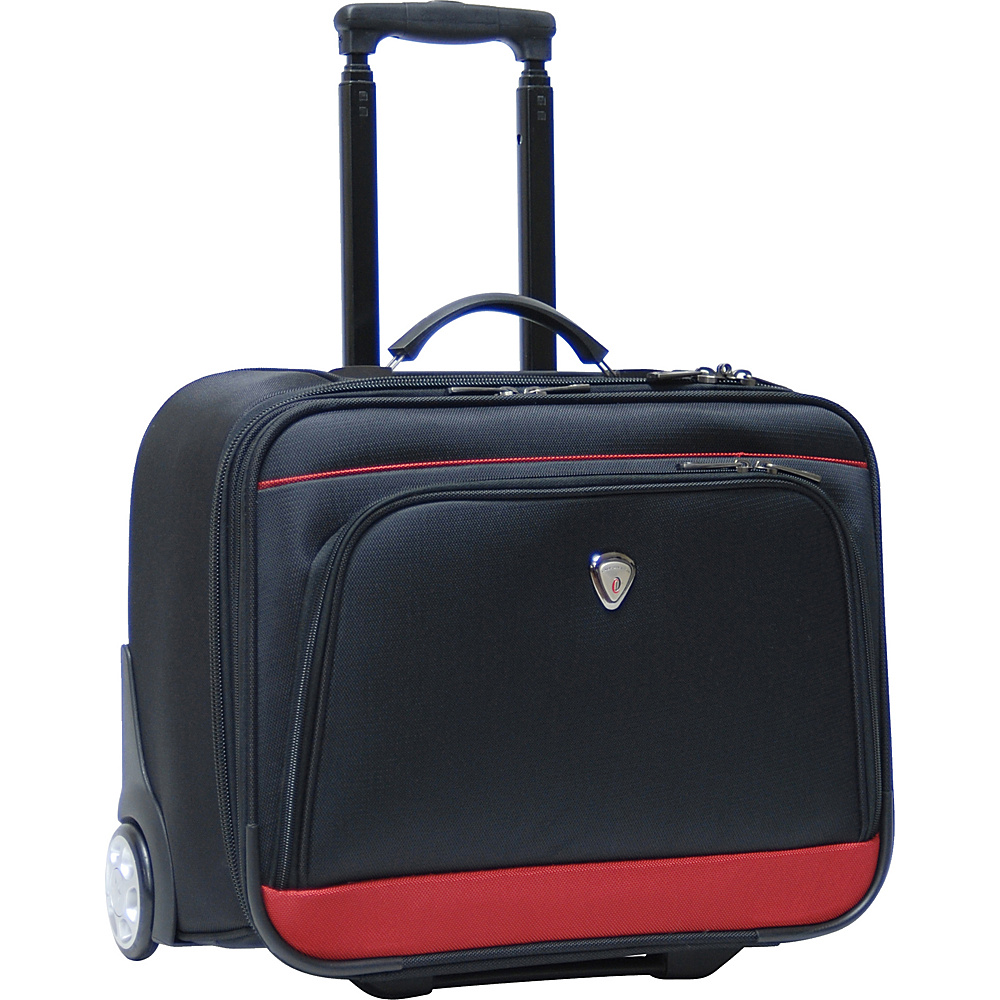CalPak Suitor Rolling Briefcase - Black